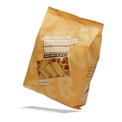 Reishunger Glutenfreie Rigatoni Reispasta aus Mais- & Reismehl (3 x 400g) - Auch in 400g und 10 x 400g erhältlich - Bei Zöliakie geeignet
