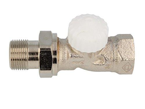 TA Heimeier Thermostat-Unterteil V-exakt II RG vernickelt Durchgang 3/4 Zoll kvs 0,86, 3712-03.000