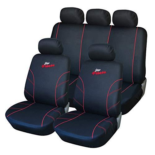 QXCOM - Funda universal para asiento de coche de fibra de lino para Volvo S40, S60, S80, V40, V50, V