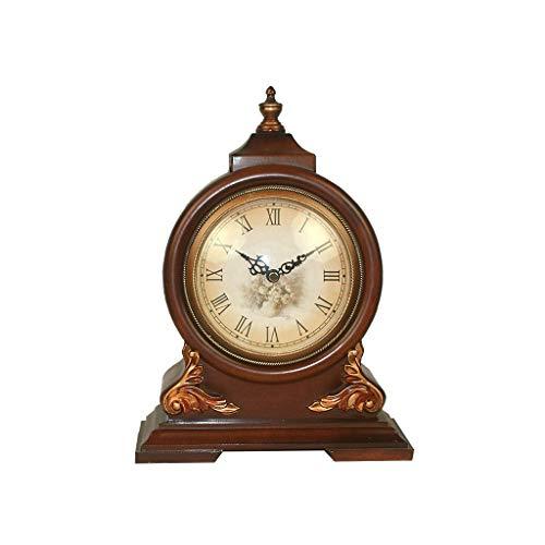 Chenglian Reloj De Estantería Reloj De Estilo Europeo Salón De Estilo Chino Reloj De Imitación De Madera Muebles De TV Decoración Elegante Salón De Lujo Reloj