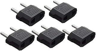 5x New Black AU/U.S. to EU Travel Adapter Plug AC Adapter U.S. AU Europe