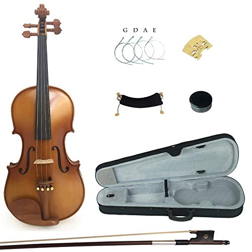 LOIKHGV Größe 4/4 3/4 1/2 Massivholz Student Violine Fiddle für Kinder Starter Kit mit Jujube Fittings, 1 2, China