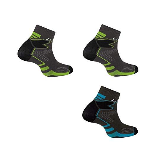 Thyo - Lot de 3 paires de socquettes Double Trail - couleur - Gris - Pointure - 35-36