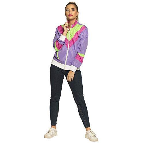 Boland 88511 - Trainingsjacke 80er Jahre mit Taschen, für Erwachsene, verschiedene Größen, Campinganzug, Jogginganzug, Assi Anzug, Retro Style, Gruppenkostüm, Bad Taste Party, Mottoparty, Karneval