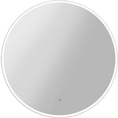 50cm Round Mirror-Embellir LED Makeup Wall Mirror for Bathroom Hailway
