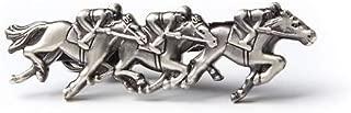 """Race Day"" Designer Horse Tie Clip Conversational Novelty Men's Fashion Tie Bar"