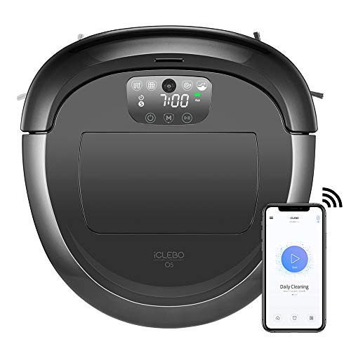 iClebo O5 Robot Vacuum with Smart Camera Mapping, Adjustable