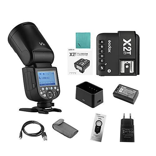 Godox V1P Flash de cámara Speedlite Speedlight Flash de Cabeza Redonda Sistema...