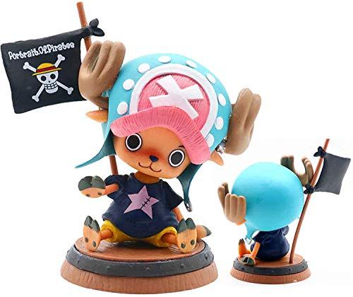 Superclean One Piece Tony Tony Chopper, Figurine One Piece Anime Figure Spielzeugfiguren Sammlung PVC-Statue, Funko POP Figur Dekoration Ornamente Sammlerstücke Spielzeuganimationen Charakter Modell
