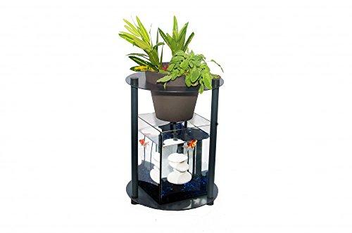 Urbanleaf nano-aquarium acuaponia SYMBIUM 40, fácil, forma/color dife