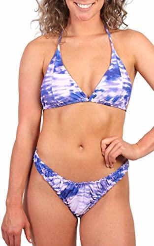 Bikini Tie-Dye - Bikini Tanga - Bañadores Mujer - Bikini Mujer - Bañadores De Mujer - Bikinis Chica - Trajes de Baño Mujer - Bikinis Cute - Bikini Altos - Biquinis Mujer - Tie Dye Morado - Talla Única