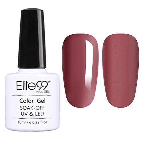 Elite99 Smalto Semipermanente per Unghie in Gel UV LED 1pzs Rosso Mattone Colore Smalti Gel Semipermanente Unghie Smalti Gel Unghie Soak Off Manicure e Pedicure,10ML - 4805