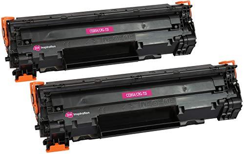 2 INK INSPIRATION® Premium Toner für HP Laserjet Pro P1102 P1102W M1212NF M1213NF M1217NFW MFP CE285A Canon I-Sensys LBP-6000 LBP-6018 LBP-6020 LBP-6020B MF-3010 CRG 725 | 1.600 Seiten