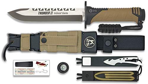 K25-32133 K25.Cuchillo Thunder II Camo Sand. h: 17 Herramienta para Caza, Pesca, Camping, Outdoor, Supervivencia y Bushcraft...