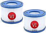 LXTOPN VI - Cartucho de filtro para piscina Bestway Spa Bomba de filtro tipo VI para Whirlpool Cartucho de filtro de repuesto Piscina hinchable para Lay-Z-Spa Miami Vegas Monaco (2 unidades)
