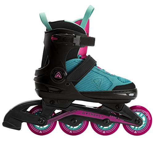 Firefly Mädchen Inline Skates-289651 Skates, Black/Mint/PINK DA, 29