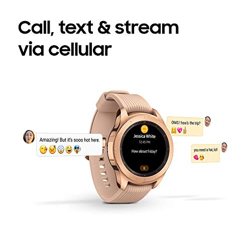 Samsung Galaxy Watch smartwatch (42mm, GPS, Bluetooth) – Rose Gold (US Version with Warranty)
