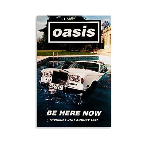 Oasis Poster Be Here Now - Cornice per poster da appendere, 30 x 45 cm