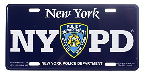 NYPD Novelty Souvenir License Plate - Official New York Police Department Merchandise