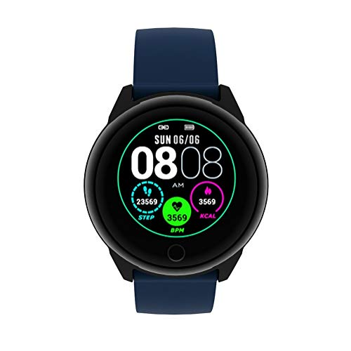 LBQ PO - Reloj inteligente multifunción para detectar el número de pasos, calorías, temperatura corporal y oxígeno en la sangre, puedes ver el japonés, totalmente funcional, necesitas un it, azul