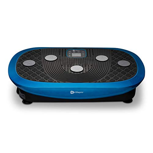 Rumblex Plus 4D Vibration Plate Exercise Machine - Triple Motor Oscillation, Linear, Pulsation + 3D/4D Motion Vibration Platform   Whole Body Viberation Machine for Weight Loss & Shaping. (Blue)