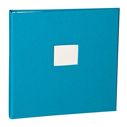 Semikolon (353358) Foto- & Gästebuch 17-Ring turquoise (türkis) - Foto-Album o. Gästebuch - Fotokarton nicht enthalten - 24,7 × 24,0 cm