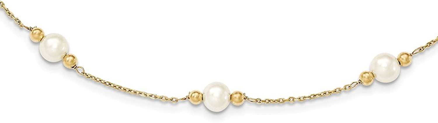 14k Yellow gold Fresh ater Pearl 7.5inch bracelet