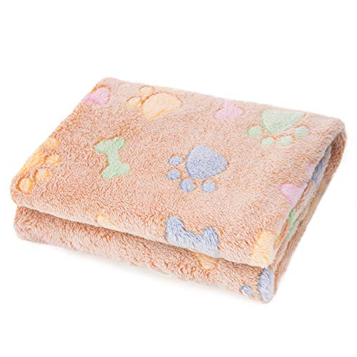 Allisandro Super Soft and Fluffy Dog Cat Puppy Blanket, Available for Small Medium Large Pet, Brown[100% Flannel Fleece]