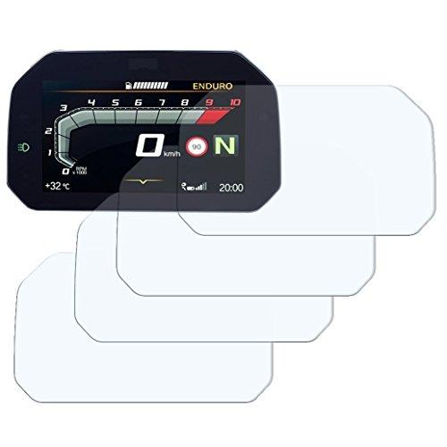 Speedo Angels Dashboard Displayschutzfolie Tachoschutzfolie für R1250 GS (2018+) 2 x Ultra Klar & 2 x Entspiegelt