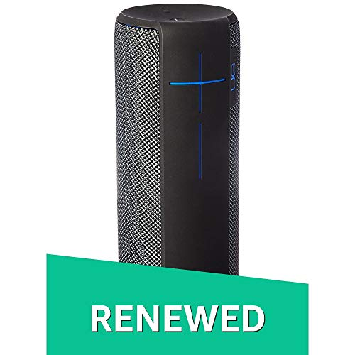 UE MEGABOOM Charcoal Black Wireless Bluetooth Speaker (Charcoal Black, Renewed)