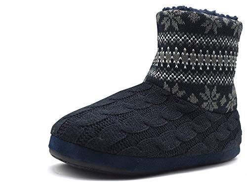COFACE Pantofole di nicchia Uomo di Alta qualità Inverno Caldo Antiscivolo Scarpe Foderate per Interni/Esterni