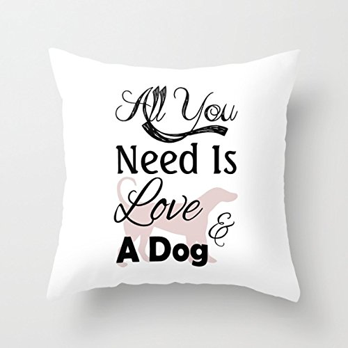 Bestseason Dogs Cushion Covers 18 X 18 Inches / 45 By 45 Cm Best Choice For Car,office,seat,teens Girls,deck Chair,bedding With Twin Sides