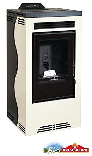 'bronpi–Estufa de pellets 16kW Mod.'damas color beige y negro