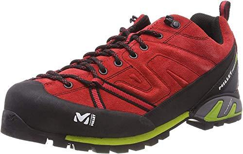MILLET Trident Guide Zapatillas de Senderismo, Unisex Adulto, Multicolor (Red/Acid Green 000), 38 EU