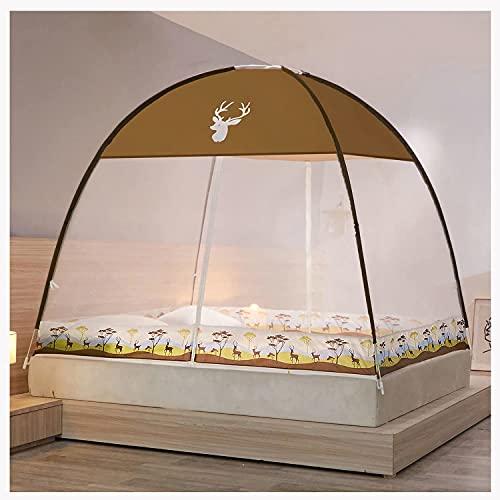 hermosa Cama de 180x200cm Cama, pop-up Yurt Mosquito redes para una cama doble individual, para el dormitorio al aire libre, instalación, fácil instalación, malla fina, para el dormitorio al aire libr