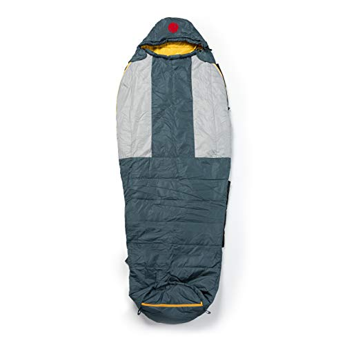 OmniCore Designs Multi Down Mummy Sleeping Bag (-10F to 30F) with Compression Stuff Sack and Storage Mesh Sack (Yellow 30℉ / -1.1℃, Reg - Up to 6'2')
