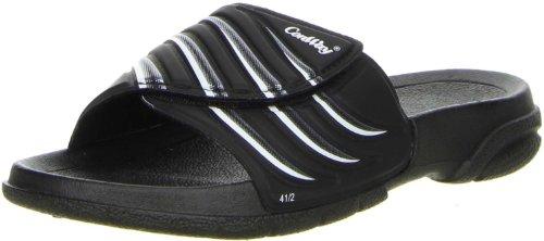ConWay Damen Herren Badeschuhe schwarz, Größe:46, Farbe:Schwarz