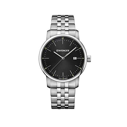 Wenger Hombre Urban Classic - Reloj de Acero Inoxidable de Cuarzo anal