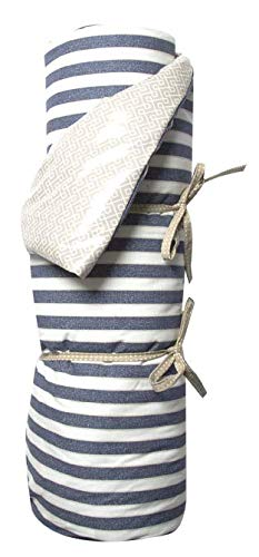 A.U MAISON Picknickdecke Twillight 130x170cm blau weiß mit Streifen