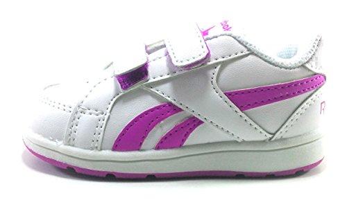 Reebok Royal Prime Alt, Zapatillas de Deporte Unisex niños, Blanco (White/Vicious Violet), 20