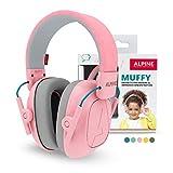 Alpine Muffy Protectores de Oído para Niños - Cascos Antiruido para niños de hasta 16 años - Cascos de Insonorización diseñados niños - Cómoda protección auditiva - banda de sujeción ajustable - Rosa