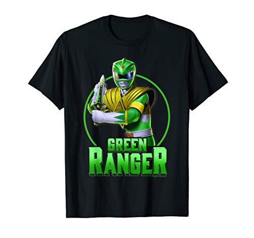 Power Rangers Green Ranger Simple Portrait T-Shirt