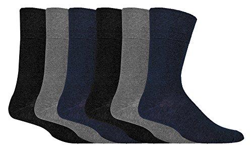 IOMI - 6 pares hombre sin elasticos diabeticos calcetines