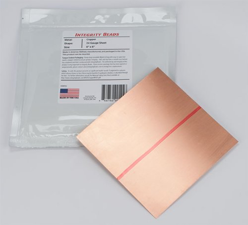 Copper 24 Gauge Sheet - 6