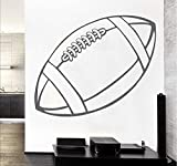 Vinyle Sport Série Wall Sticker Rugby Ball Art Murale Décoration De La Maison Wall Sticker Chambre Amovible Stickers Muraux 101 * 57.Cm