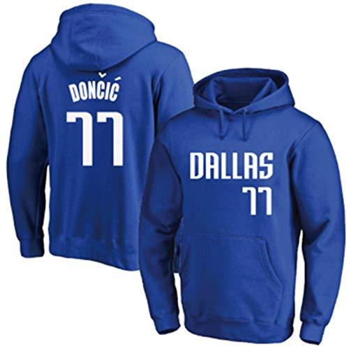 LMSNB Azul - Para Hombres Dallas Mavericks #77 Luka Baloncesto Americano Retro Sudadera Con Capucha Doncic Sudadera Casual Sudadera Con Capucha Gráfica Con Capucha