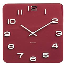 Karlsson Vintage, Wall Clock, us:one Size, Red