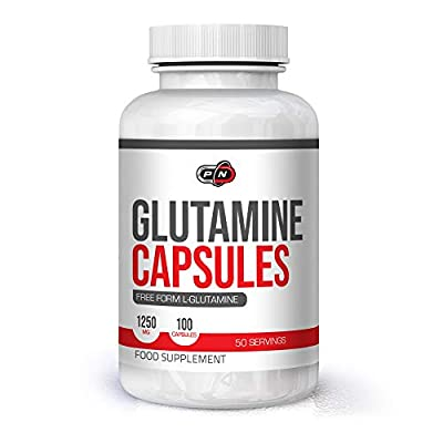 L GLUTAMINE Amino Acid 2500mg Nutrition Supplement 100 Capsules 50 Servings Promotes Strength Muscle Recovery After Workout Training Pure Natural Unflavored Vegan Made in Germany