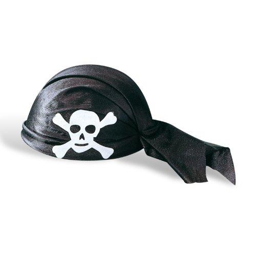 Elbenwald Andrea Moden 5877501 Capuchon de pirate noir en feutre avec revêtement en tissu noir, accessoire, chapeau de pirate, foulard de pirate