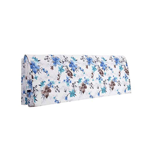 Shengluu Cabecero para cama king size, cojín de mesita de noche, respaldo de sofá, funda suave, protección de cintura, almohada de algodón, lavable, varios tamaños (color: B, tamaño: 120 x 55 cm)